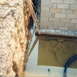 Waterproofing French Drain